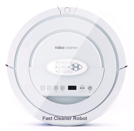 Top Grade White Color Robotic Vacuum Cleaner for Home With New Patent Recharging Sonic Wall,double side Brush,side Brushes(China (Mainland))