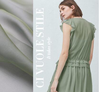 2016 new wonderful blue green color Tsing Yi high-end technology chiffon scarf fabric cloth(China (Mainland))
