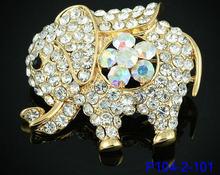Iyoe Hot Jual Natal Hadiah Perak/Emas Warna Hewan Gajah Lucu Bros Fashion Wanita Pernikahan Pin Bros Perhiasan(China)