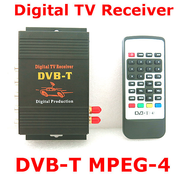 HD DVB-T mpeg4 MPEG-4 Mobile Digital TV Box tuner Receiver For dvb Car dvbt DVD GPS Radio Player Stereo dual antenna Mpeg2 Hot(China (Mainland))