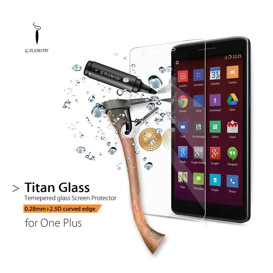 GODOSMITH Titan Premium Tempered Glass Screen Protector Oneplus One Plus 1 Explosion proof Protective film Brand Original(China (Mainland))