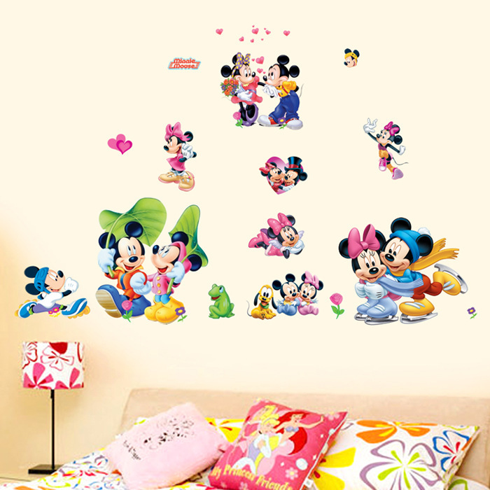 Dm57 0163 free shipping hot sale cartoon kids minnie for Mickey mouse home decorations