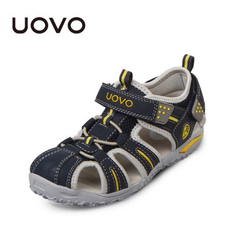 Kids Beach Shoes Hot UOVO Summer Boys Sandals Zapatos Flat Space Leather Child Slippers EU Size24
