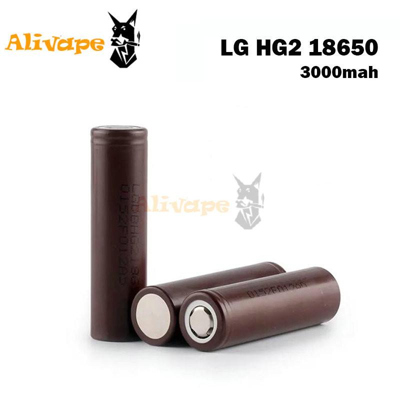 ถูก Lg hg2 3.6โวลต์18650แบตเตอรี่3000มิลลิแอมป์ชั่วโมงli-ionแบตเตอรี่แบบชาร์จไฟเหมาะสำหรับกล่องบุหรี่อิเล็กทรอนิกส์สมัย