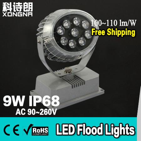 "High Power LED 9W Floodlight Outdoor Waterproof IP68 Lumen's Chip""Epistar"" 100~110 lm/W led Flood lights - Shenzhen Hongna Lighting Technology Co.,Ltd. store"
