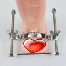 Free Shipping!100% Stainless steel Scrotum clamp male chastity device delay sex product for men F56