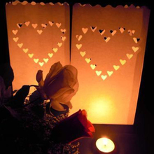 Buy 50Pcs/lot Double Heart Tea light Holder Luminaria Paper Lantern Candle Bag Christmas Party Wedding Decoration Products for $21.36 in AliExpress store