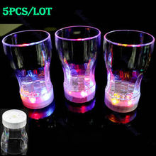 On Sale 5pcs Small 6 LED Light Flashing Decorative Beer Mug Drink Cup For Parties Wedding Clubs Drop Shipping