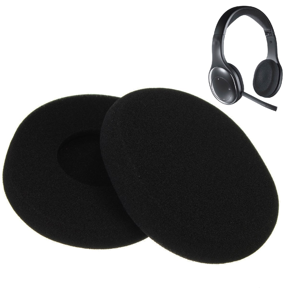 New Fashion Wholesale Headphone Replacement Sponge Soft Foam Ear Pads Earpad Cushion For Logitech H800 Headphones Best Price<br><br>Aliexpress