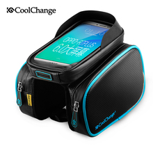 Coolchange Bike Bicycle Ride Frame Front Head Top Tube Bag&Double IPouch Cycling Pannier For 5.5 in Cell Phone Smartphone Case