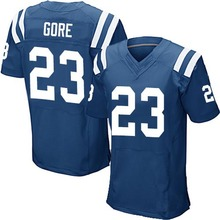 Men's #23 Frank Gore Elite Royal Blue Team Color Football Jersey 100% Stitched(China (Mainland))