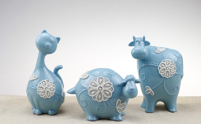 Modern Continental neo-classical powder blue kitten lamb calf children's room furniture, home furnishing soft furnishings(China (Mainland))