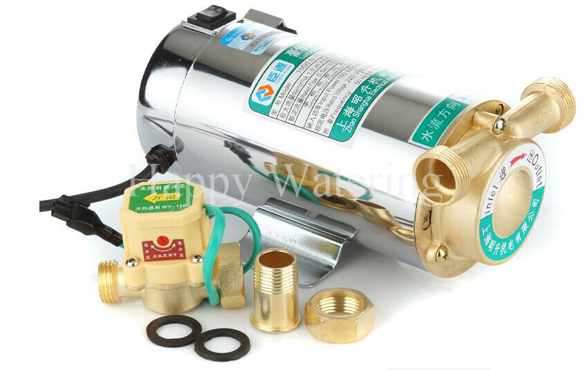Household Automatic Gas Water Heater Solar Water Pumps 100W Pressure Booster Pumps With Filter(China (Mainland))