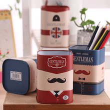 Storage Jars new fashion creative European cartoon Storage Bottles soldier Tin plate cute children gift retro Piggy Bank,LB1787(China (Mainland))