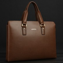 2013 New, fashion brand men's genuine leather commercial briefcase bags, man quality real cowhide designers handbags,S022-1(China (Mainland))