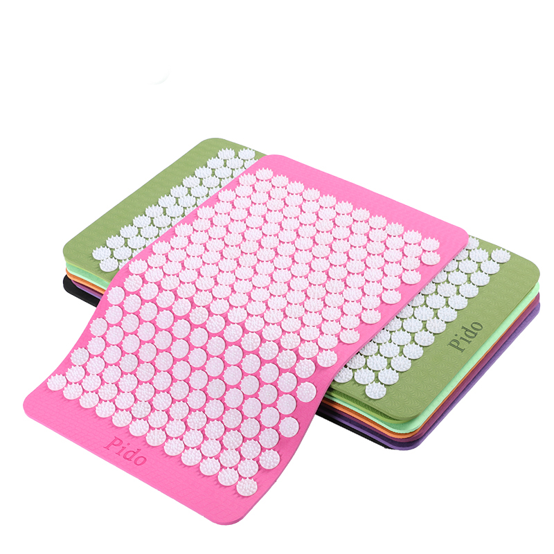 Back Body Massage Relieve Stress Tension Pain Yoga Mat Acupressure Massage Relaxation Acupuncture Massage Cushion Mat Yoga Mata(China (Mainland))