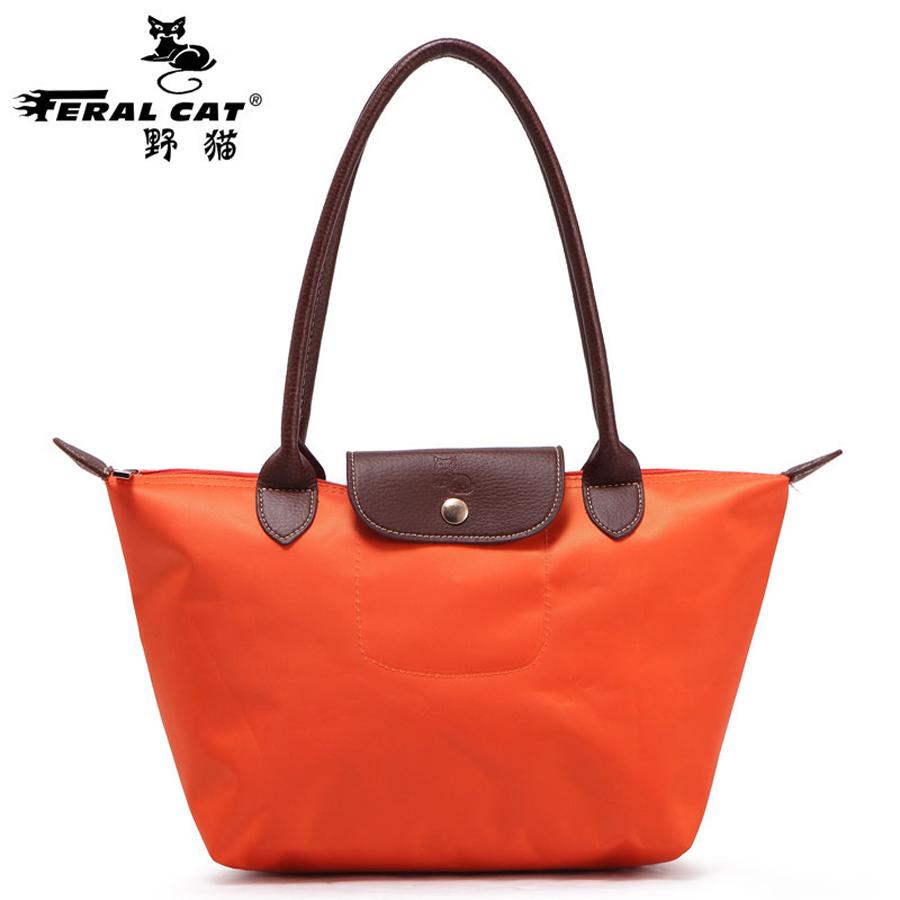 2016 Brand FERAL CAT folded shopping bag multifunctional handbag(China (Mainland))