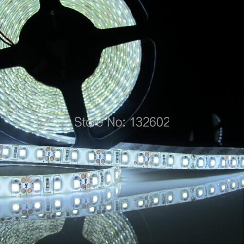 5Pcs Waterproof Super Bright 5M SMD 3528 600 LED White Flexible Light Strip DC12V Free Shipping<br><br>Aliexpress