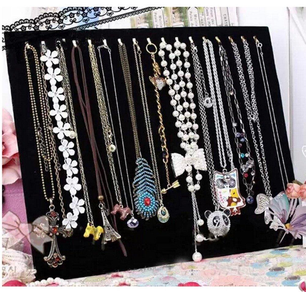 Black Velvet 17 Hook Necklace Jewelry Tray Display Organizer (17 Hook Necklace Display)(China (Mainland))