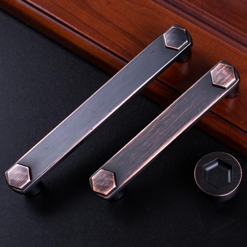 Vintage Alloy Metal Door Handles For font b Kitchen b font Cabinet Cupboard Wardrobe Drawer Pull