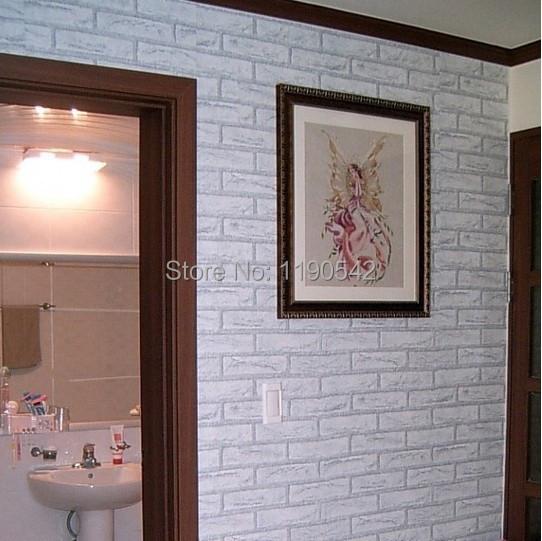 Free Shipping Pvc Self Adhesive Wallpaper Red Brick White Brick Wall Wallpaper Huizhuan Bedroom