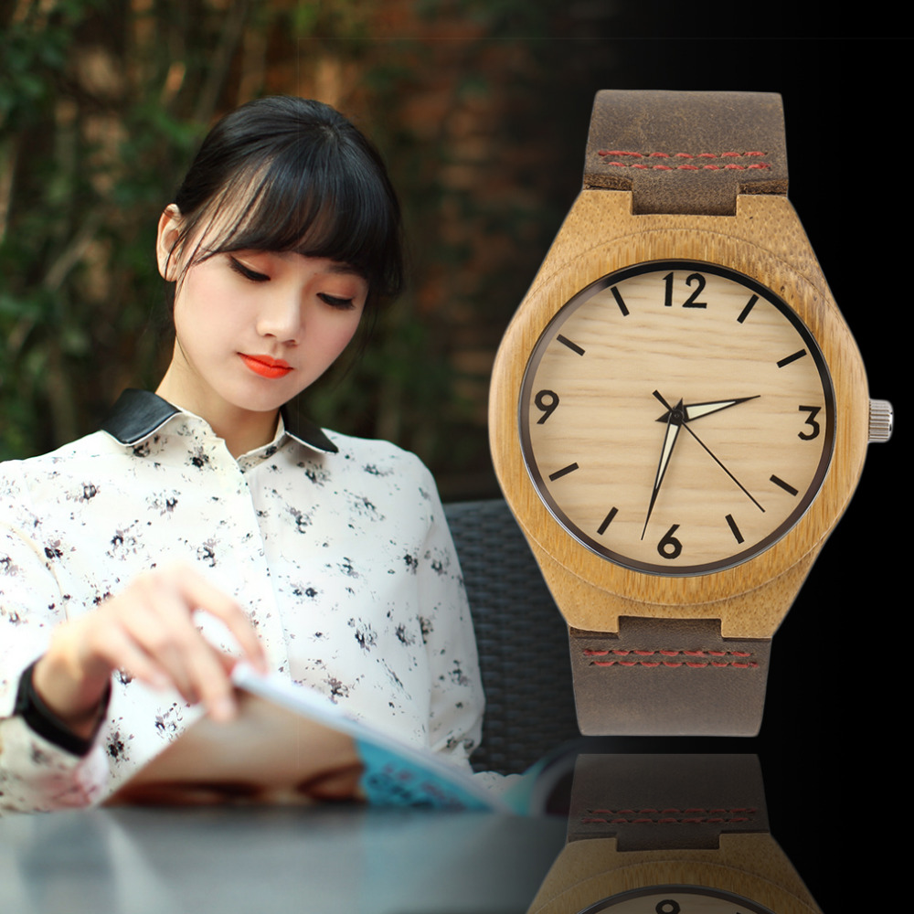 Vintage wooden dial watch quartz watches Men Women Couple Watch White Pointer Relogio Masculino high quality(China (Mainland))