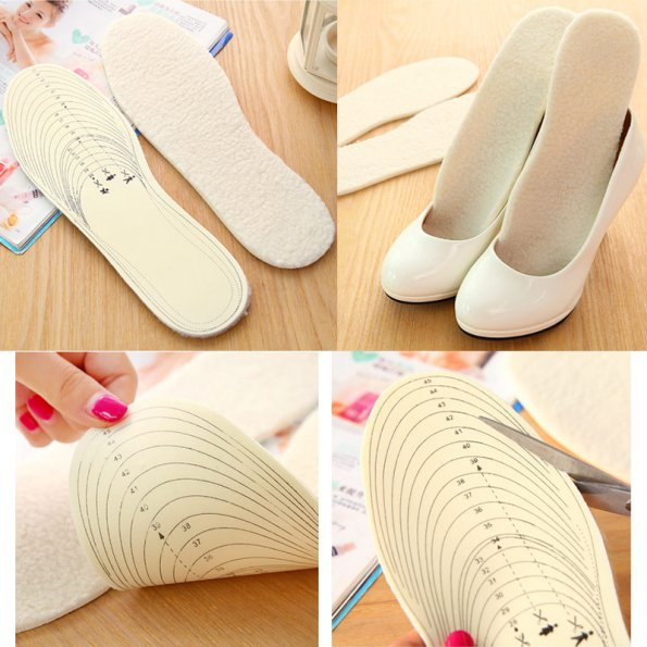 1 Pair of Men Women Supersoft Winter Warm Plush Wool Shoes Thermal Insoles Liner Cushion Pads(China (Mainland))