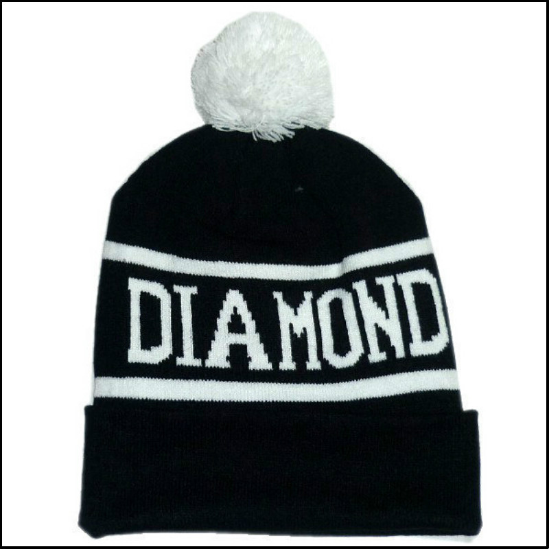 Diamond Supply Co Beanie Hat Popular Style Skullies And Beanies Men And Women Winter Knit Letter Cap 4 Colors(China (Mainland))