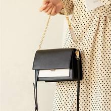 WOONAM Vrouwen Mode Top Verbergen Echt Leer Contrast Kleur Flap Schouder Chain Strap Bag WB941(China)