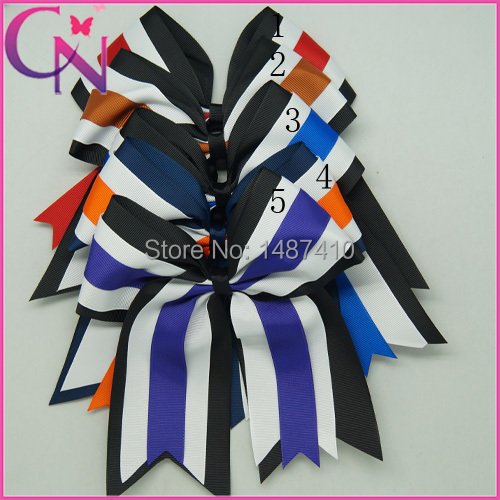 "Three Layered Cheer Bows 8"" Large Grosgrain Ribbon Cheer Bow For Girls Boutique Cheerleading Bow For Baby(China (Mainland))"