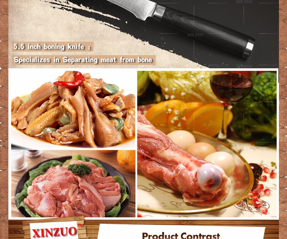 Buy 5 inch  boning knife Damascus kitchen knife Japanese VG10  Universal fruit knife peeling knife  Micarta handle FREE SHIPPING cheap