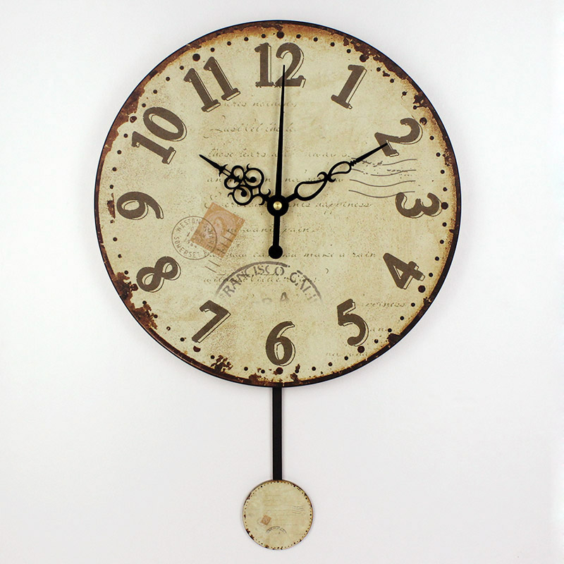 Wholesale fashion living room decorative pendulum mute wall clock modern design unique round - Stylish pendulum wall clock ...