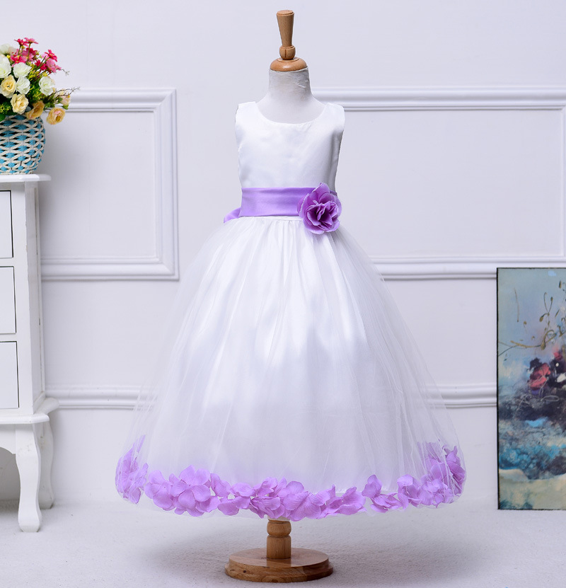 3t 10 12 14 years Girls easter dresses teenagers baby Princess flower wedding birthday dress ceremony little girls evening gowns(China (Mainland))