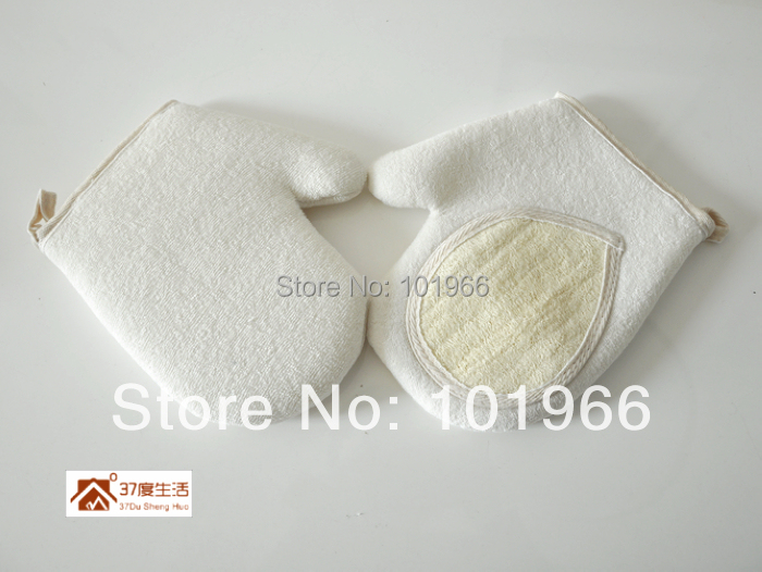 Wholesale 10PCS/Lot Loofah Luffa Gloves Shower Exfoliating Body Massage Natural Bath Sponge Free Shipping Dropshipping(China (Mainland))