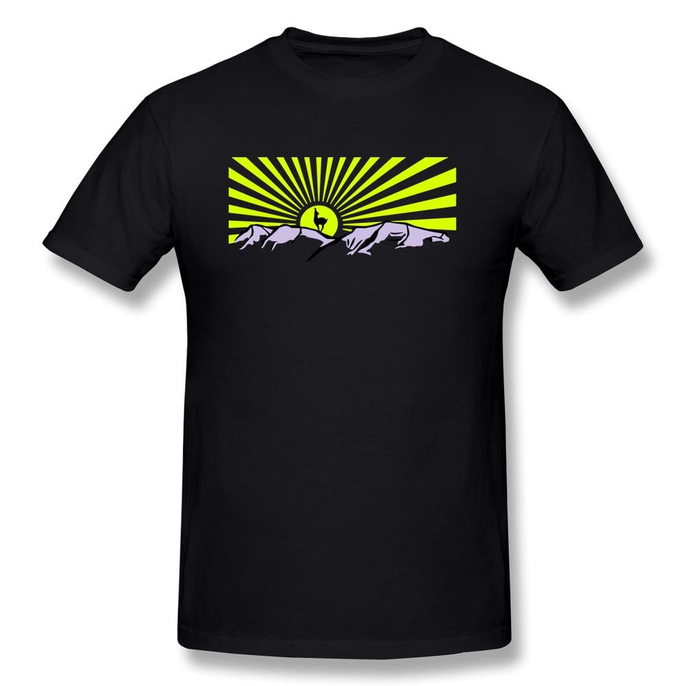 Custom short sleeve t shirt men s mountains with sun an for Custom sun protection shirts