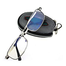 Hot Foldable Clear Men Women Reading Glasses Grid Case with Belt Clip Presbyopic Reading Eyewear +1.0+1.5+2.0+2.5+3.0+3.5 +4.0(China (Mainland))