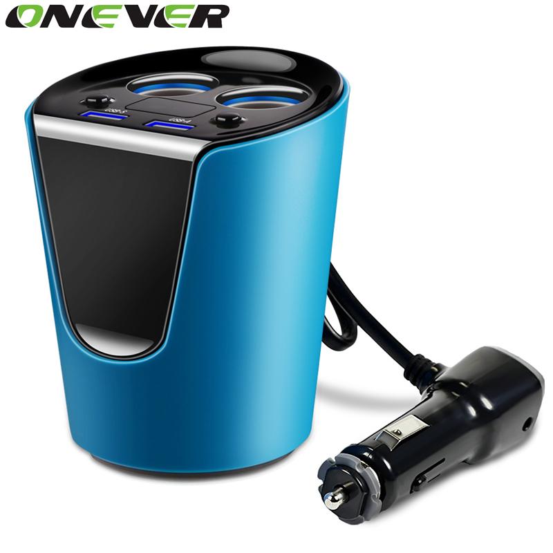 Onever 12V-24V Car Socket Power Adapter 5V 3.1A Car Cigarette Lighter Splitter Power Lighter Double USB Charging Ports(China (Mainland))