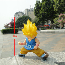 Anime figure DRAGON BALL PVC Action figure Super Saiyan Son Goku 18 cm Collection Model Kids Toys RETAIL BOX JK-0260