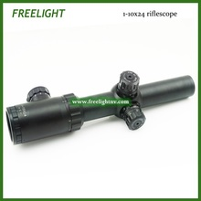 1-10×24 jakt kikkertsikte Optical weapon Sight  tactical Sniper Scope Long range Military shooting Riflescope DHL