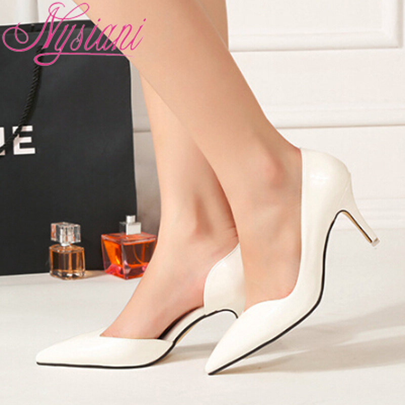 Women Shoes High Heels Pumps Pointed Toe Stilettos Spring Summer Fashion Ladies Thin Brand Designer 2015