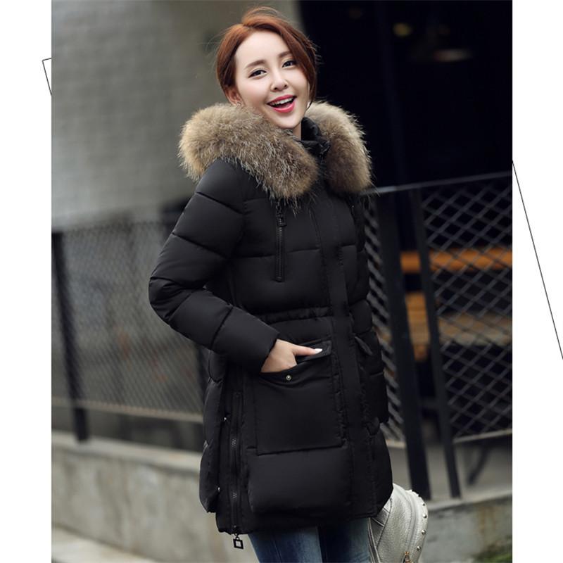 Popular Winter Jacket Real Fur Collar Parka Women-Buy Cheap Winter