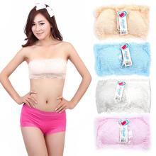Hi-Q Lady Seamless Stretch Strapless Lace Boob Tube Top Padded Bandeau Sport Bra