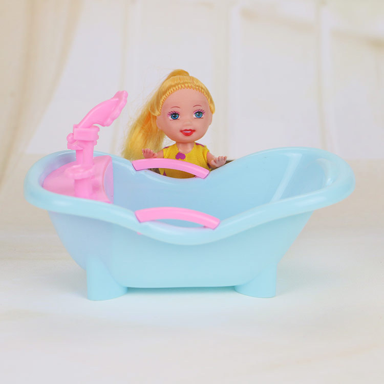 Free Shipping Fantastic Blue Bathtub for Kelly Dolls, Doll Accessories, Girls Best Toys Present(China (Mainland))