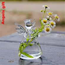 Buy Valentine's Day gift glass vase angel vase gift best wedding gifts home decoration vase lucky angel flower pots decorative vase for $7.98 in AliExpress store