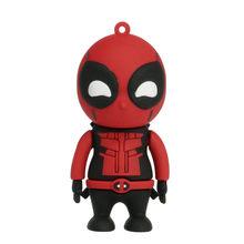 Deadpool Superhero Pen Driver Flash Usb 2.0 Pendrive 4GB GB GB 32 16 8GB Spiderman Memory Stick De Armazenamento criativa Dos Desenhos Animados Presente Brinquedo(China)