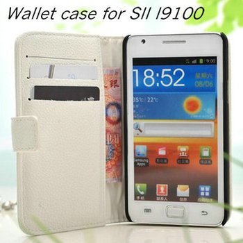 Luxury Flip Leather Case for Samsung Galaxy S2 i9100 SII Stand Wallet Phone Bag with Card Holder