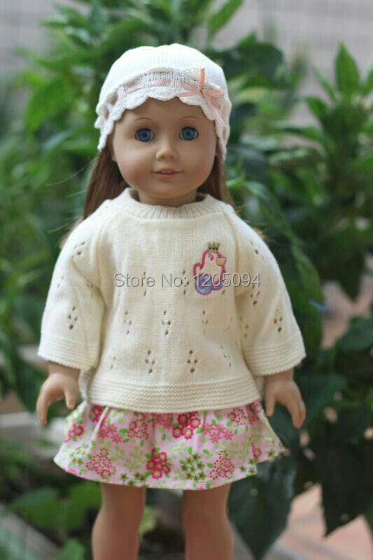 "New American girl doll clothes accessories,winter sweater outfits for 18"" american girl doll,girl birthday gift free shpping(China (Mainland))"