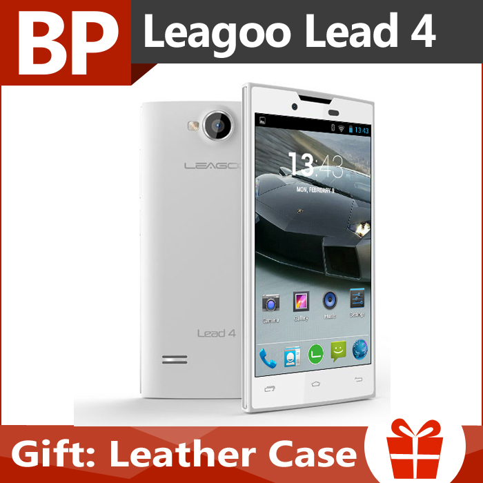 Original Leagoo Lead 4 Lead4 4 Inch 800x480 MTK6572 Dual Core Android 4.2 3G Mobile Cell Phone 512MB RAM 4GB ROM 3MP In Stock(China (Mainland))