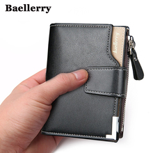 Wallet men genuine leather men wallets purse short male clutch leather wallet mens Baellerry brand  money bag quality guarantee(China (Mainland))