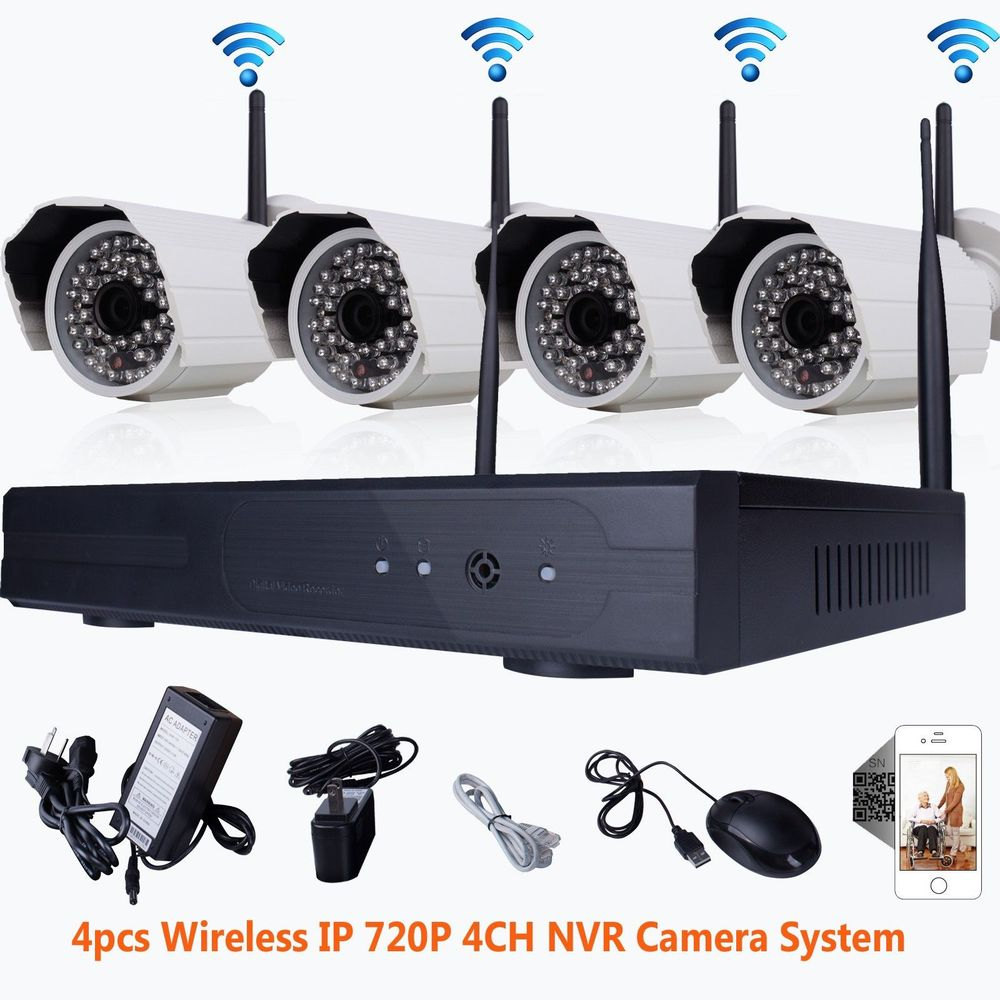 P2P 4ch Wifi NVR HD Wireless IP Camera 720P Night Vision Outdoor Camera Security System<br><br>Aliexpress